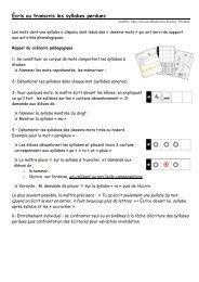 Écris ou transcris les syllabes perdues - Instit90 - Free