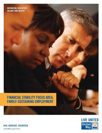 financial stability focus area: family-sustaining employment