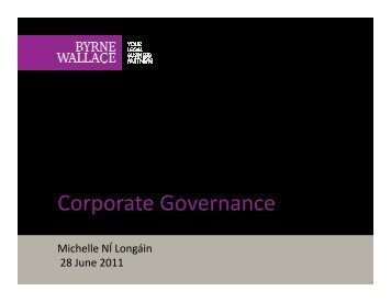 Corporate Governance Corporate Governance