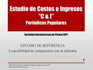 Estudio de Costos e Ingresos - Sociedad Interamericana de Prensa.