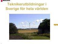 Teknikerutbildningar i Sverige för hela världen - CMS Office
