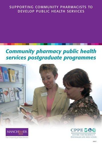 Community pharmacy public health services postgraduate ...