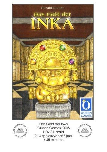 Das Gold der Inka Queen Games, 2005 LIESKE ... - Forum Mortsel