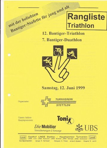 12. Bantiger Triathlon-, 3. Stafette (original Strecke) - TV Stettlen