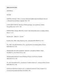 OBSAH 59/SN4/2011 EDITORIAL ŠTÚDIE JAHODA, Christian ...