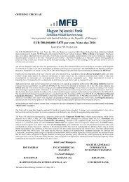 EUR 500 M 5.875 per cent Notes due 2016 - Magyar Fejlesztési ...