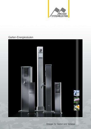 Garten-Energiesäulen - Moser Systemelektrik