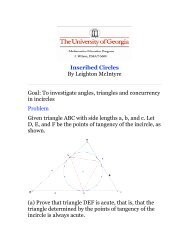Inscribed Circles By Leighton McIntyre Goal: To investigate angles ...
