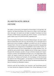 ELLINGTON HOTEL BERLIN HISTORIE