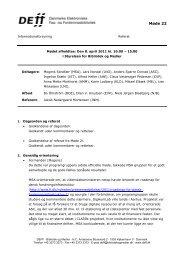 Referat af møde 22 i INFO - DEFF