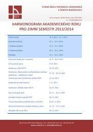 Harmonogram_AR_2013_2014 - Vysoká škola technická a ...