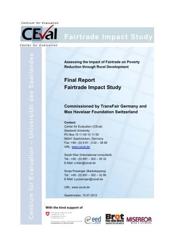 Assessing the Impact of Fairtrade on Poverty Reduction through ...