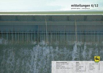 mitteilungen 6/12 - Gemeinde Eglisau
