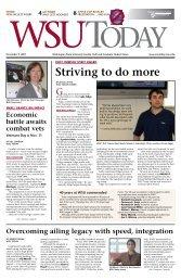 Striving to do more - WSU News Center - Washington State University