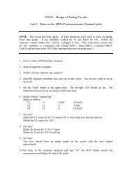 EN162—Design of Analog Circuits Lab 2: Notes on the HP4145 ...