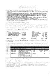 1 Závěrečný účet Obce Hukvaldy za rok 2008. Návrh rozpočtu Obce ...