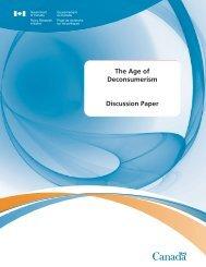 Age of Deconsumerism - Horizons de politiques