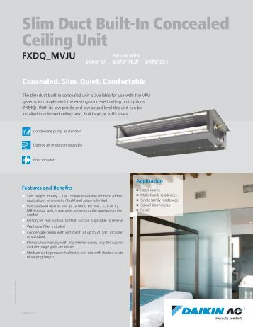 Fan Coil 226 M 226 Series Ceiling Concealed Mcw Ducted Mcquay