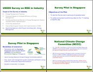 UNIDO Survey on MSE in Industry Survey Pilot in ... - Energy Efficiency