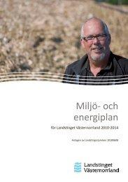Miljö- och energiplan (pdf) - Landstinget Västernorrland