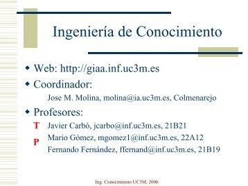 Ingeniería de Conocimiento - GIAA
