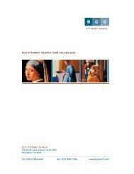 BCG ATTORNEY SEARCH CORE VALUES 2010 - Legal Recruiters
