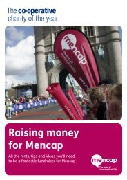 Raising money for Mencap - The Co-operative