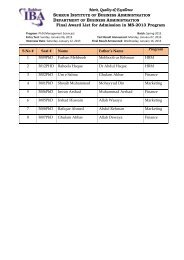 Results of MS Entry Test/Interviews Held on January 06 & 12, 2013