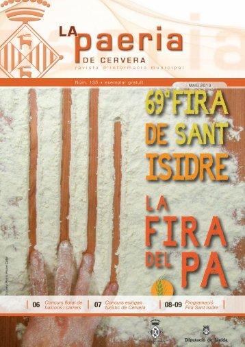 Núm. 135 Maig 2013 - Consell Comarcal de la Segarra
