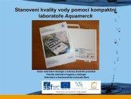 Stanovení kvality vody pomocí kompaktní laboratoře Aquamerck ...