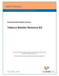 Tobacco Retailer Resource Kit - Fraser Health Authority