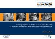 Handlungsempfehlungen der Entwicklungspartnerschaft NOBI zur ...