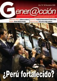 Año 7 N° 83 Noviembre 2008 APEC Perú 2008 ... - Generaccion.com