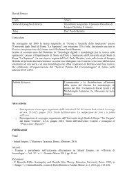 CV Davide Persico - Dipartimento di Storia dell'Arte e Spettacolo ...