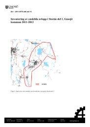Inventering av enskilda avlopp i Storån del 1, Gnosjö kommun 2011 ...