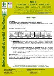 Bulletin de santé du végétal n°7 - DRAAF Midi-Pyrénées