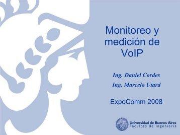 monitoreo y medicion de voip marcelo utard - docente ... - CICOMRA