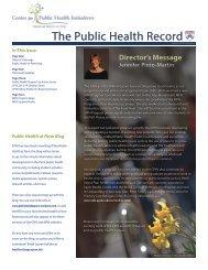 The Public Health Record - Center for Public Health Initiatives