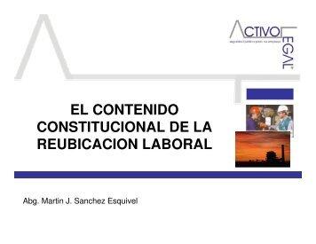 el contenido constitucional de la reubicacion laboral - Consejo ...