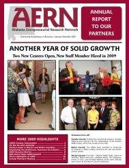 2009 Annual Report - Alabama Entrepreneurial Research Network