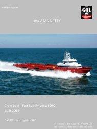 M/V MS NETTY - Gulf Offshore Logistics