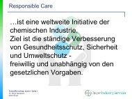 Responsible Care - eine weltweite Initiative der chemischen ...