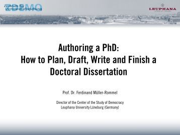 finishing a dissertation Constructing a good dissertation a practical guide to finishing a master's if anything contradicts your goal of finishing a good dissertation on time, the.