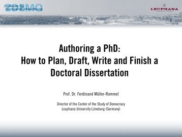 Authoring a PhD: How to Plan, Draft, Write and Finish a Doctoral ...