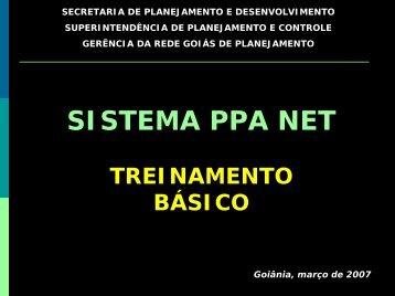 Treinamento PPA Net
