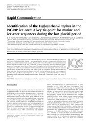 Identification of the Fugloyarbanki tephra in the ... - Climate Geology