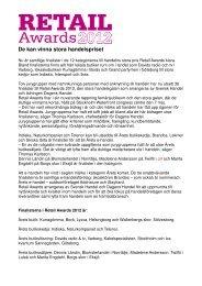 Finalister Retail Awards 2012.pdf - Svensk Handel