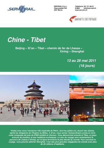 Chine - Tibet - SERVRail