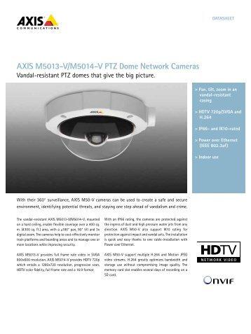 AXIS M5013-V/M5014-V PTZ Dome Network Cameras