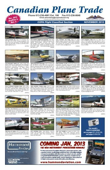 Canadian Plane Trade - Canadian Owners and Pilots Association